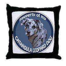 catahoula pawperty Throw Pillow
