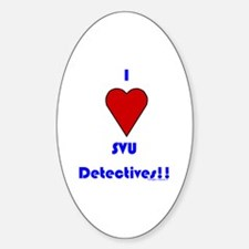 Heart SVU Detectives Oval Decal