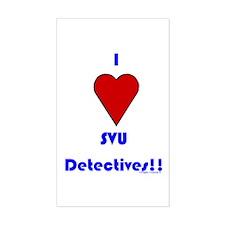 Heart SVU Detectives Rectangle Decal
