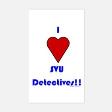 Heart SVU Detectives Rectangle Decal