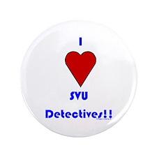 """Heart SVU Detectives 3.5"""" Button"""