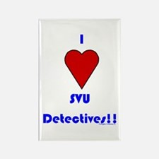 Heart SVU Detectives Rectangle Magnet