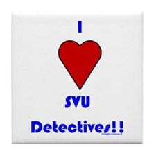 Heart SVU Detectives Tile Coaster