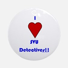 Heart SVU Detectives Ornament (Round)