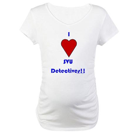 Heart SVU Detectives Maternity T-Shirt