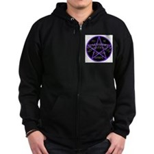 Purple Pentagram Board Zip Hoodie
