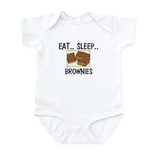 Eat ... Sleep ... BROWNIES Infant Bodysuit