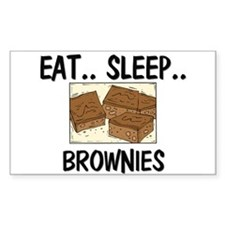 Eat ... Sleep ... BROWNIES Rectangle Decal