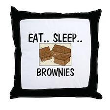 Eat ... Sleep ... BROWNIES Throw Pillow
