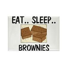 Eat ... Sleep ... BROWNIES Rectangle Magnet (10 pa