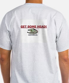 TROUT HEAD INC. Ash Grey T-Shirt-GET SOME HEAD!