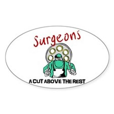 Surgeons Oval Decal