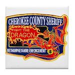 Cherokee County Anti-Drug Tile Coaster