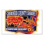 Cherokee County Anti-Drug Rectangle Sticker 10 pk