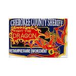 Cherokee County Anti-Drug Rectangle Magnet (100 pa