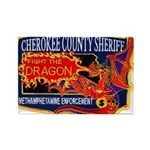 Cherokee County Anti-Drug Rectangle Magnet (10 pac