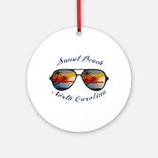 North Carolina - Sunset Beach Round Ornament