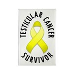 Testicular Cancer Survivor Rectangle Magnet (10 pa