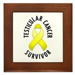 Testicular Cancer Survivor Framed Tile