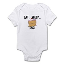 Eat ... Sleep ... CAKE Infant Bodysuit