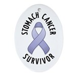 Stomach Cancer Survivor Oval Ornament