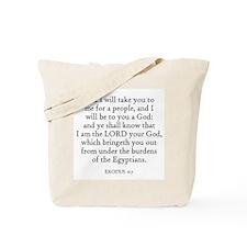 EXODUS  6:7 Tote Bag