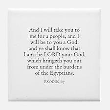 EXODUS  6:7 Tile Coaster