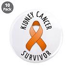 """Kidney Cancer Survivor 3.5"""" Button (10 pack)"""