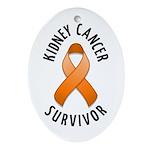 Kidney Cancer Survivor Oval Ornament