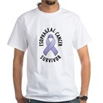 Esophageal Cancer Survivor White T-Shirt