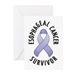 Esophageal Cancer Survivor Greeting Cards (Pk of 2