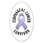 Esophageal Cancer Survivor Oval Sticker