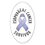 Esophageal Cancer Survivor Oval Sticker (10 pk)