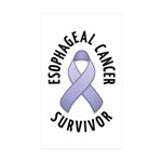 Esophageal Cancer Survivor Rectangle Sticker 10 p