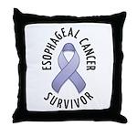 Esophageal Cancer Survivor Throw Pillow