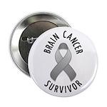 """Brain Cancer Survivor 2.25"""" Button"""