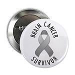 """Brain Cancer Survivor 2.25"""" Button (100 pack)"""