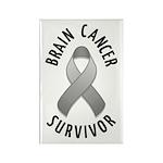 Brain Cancer Survivor Rectangle Magnet (10 pack)