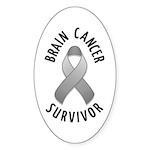 Brain Cancer Survivor Oval Sticker (10 pk)
