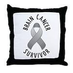 Brain Cancer Survivor Throw Pillow