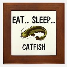 Eat ... Sleep ... CATFISH Framed Tile