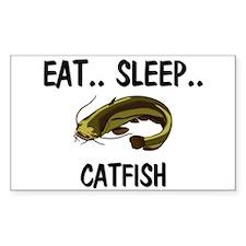 Eat ... Sleep ... CATFISH Rectangle Decal