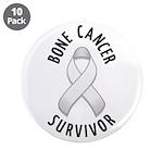 """Bone Cancer Survivor 3.5"""" Button (10 pack)"""