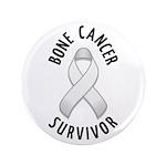 """Bone Cancer Survivor 3.5"""" Button (100 pack)"""