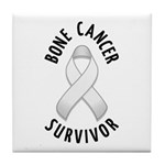 Bone Cancer Survivor Tile Coaster