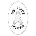 Bone Cancer Survivor Oval Sticker (10 pk)