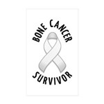 Bone Cancer Survivor Rectangle Sticker 10 pk)