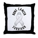 Bone Cancer Survivor Throw Pillow