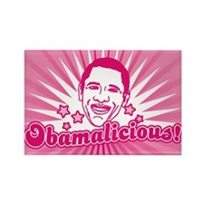 Pink Obamalicious Rectangle Magnet