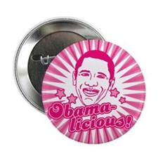 "Pink Obamalicious 2.25"" Button"
